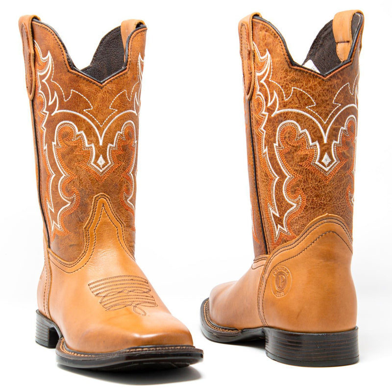 Men's Cowboy Boots - Lightweight & Flexible - Tan Cowboy Boots - Pradera - Cowboy Boots - Honey Western Boots
