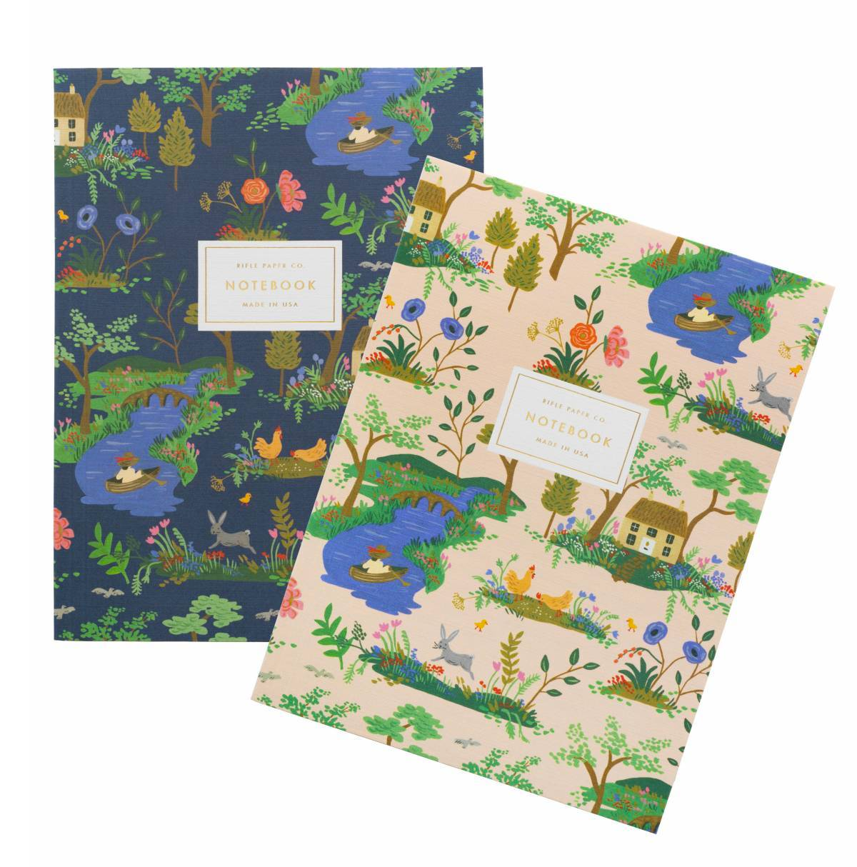 Garden Toile 2 Pack Notebook