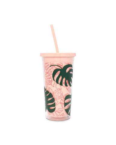Palm Tumbler with Straw