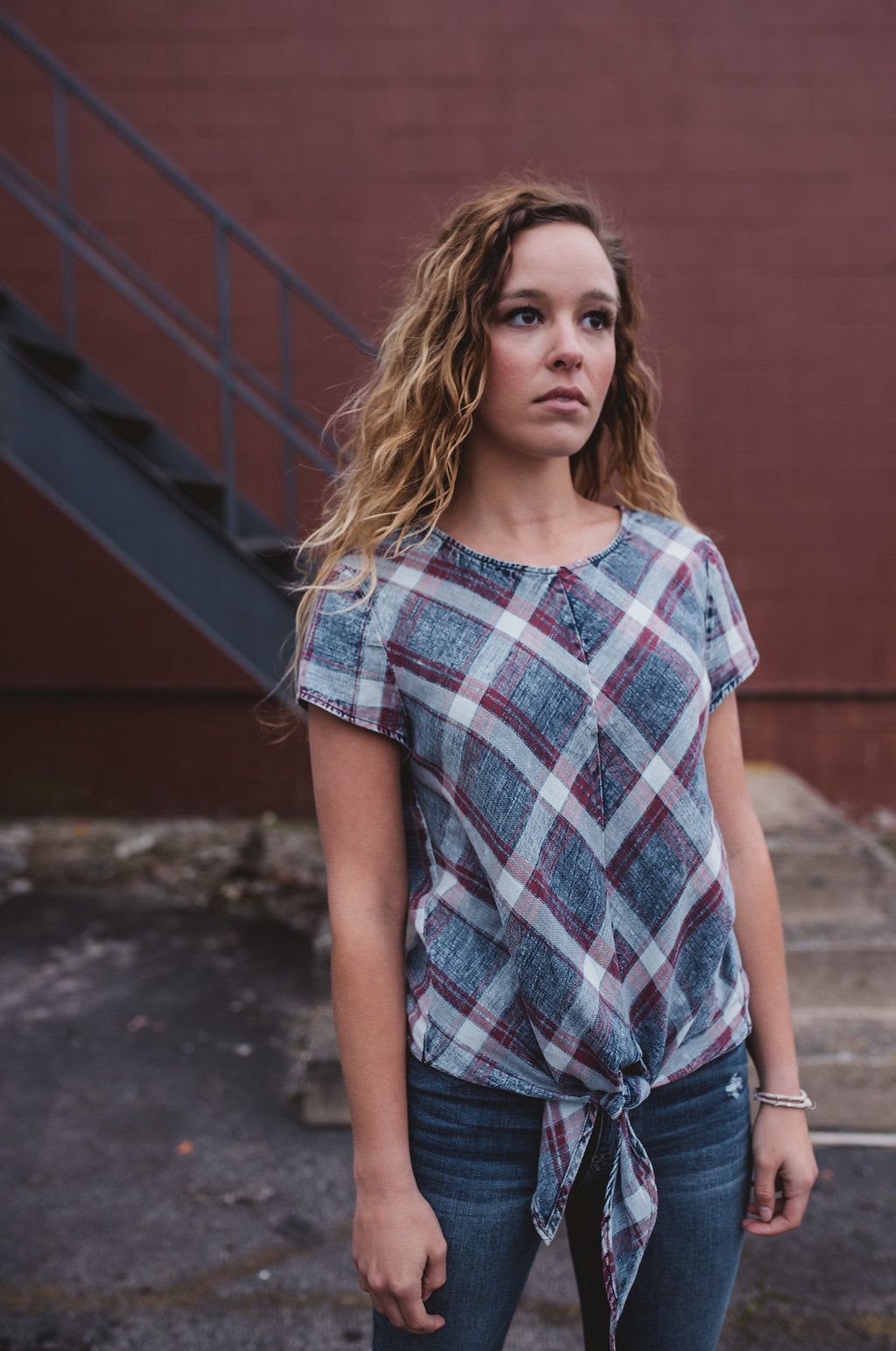 Dolly Plaid Top