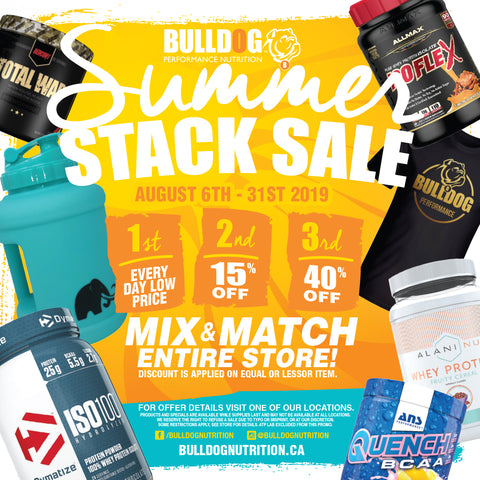 Bulldog In-Store August 2019 Summer Stack Sale