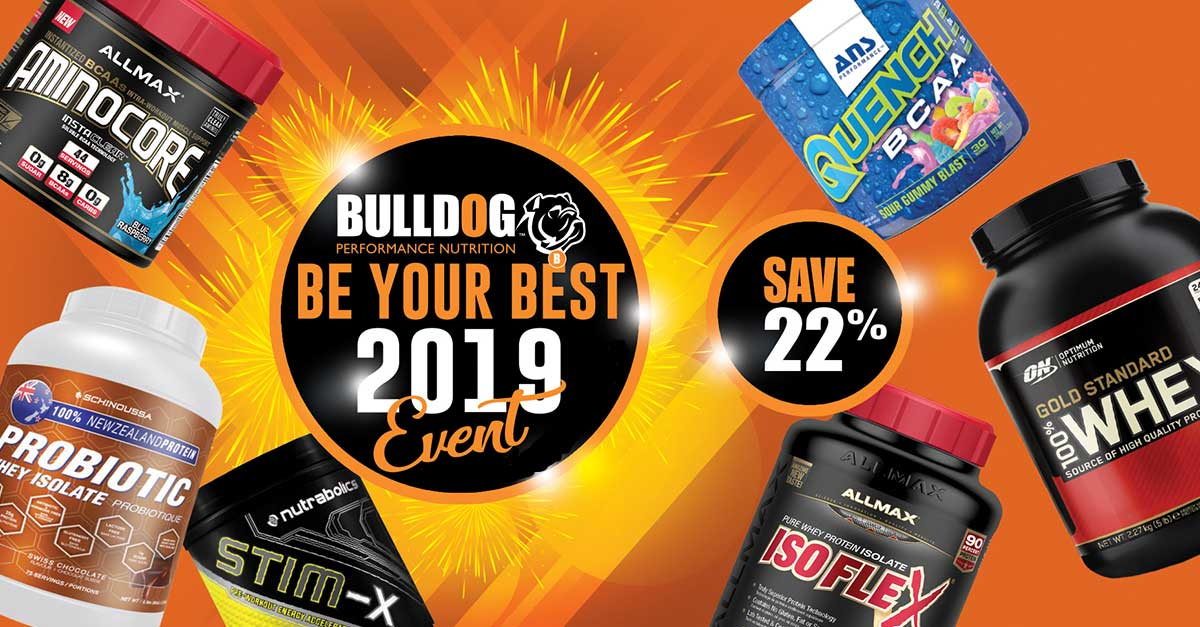 BulldogNutrition.com Be Your Best Supplement Sale Event 2019