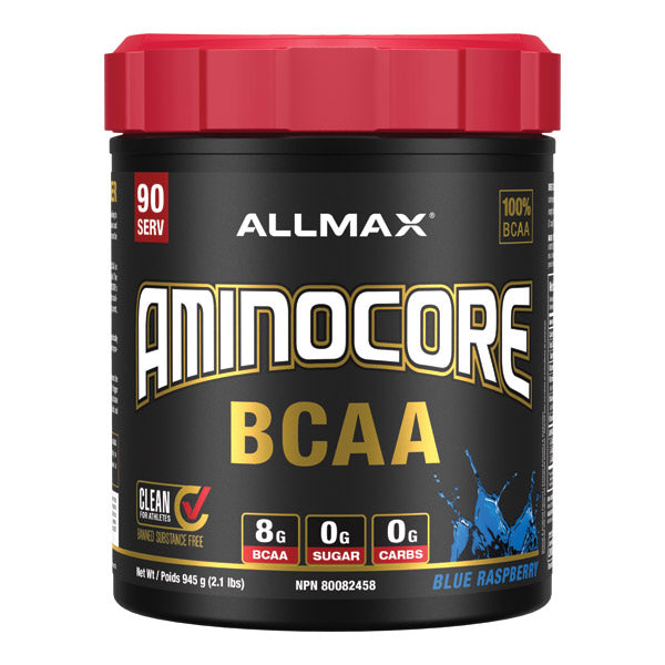 Allmax Amincore BCAA 90 servings Blue Raspberry