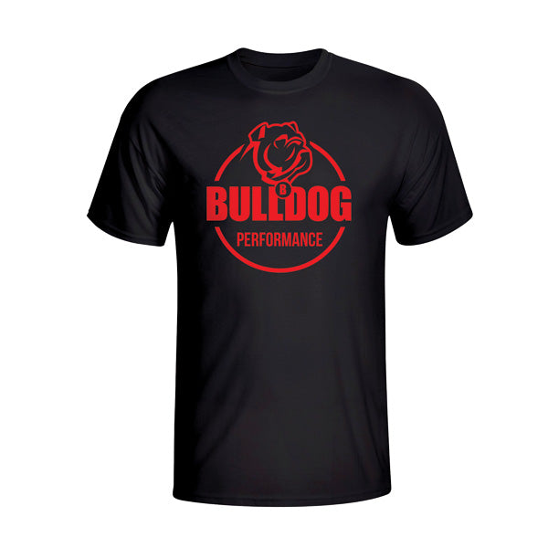 Bulldog Performance T-Shirt Red Logo