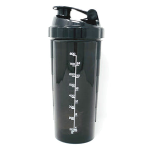 Premium 1L Bulldog Shaker Blender Bottle Black with White Logo