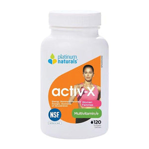 Platinum Naturals Activ-X MultiVitamins for Women 120 softgels