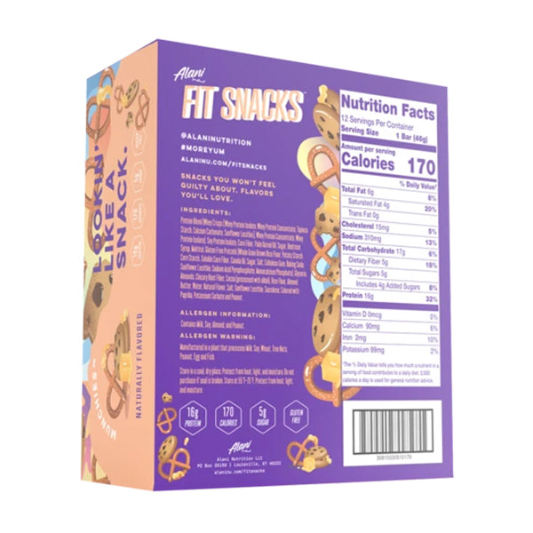 Alani Nu Fit Snacks Protein bars Munchies Nutrition Facts Canada
