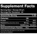 Allmax Collagen Supplement Facts