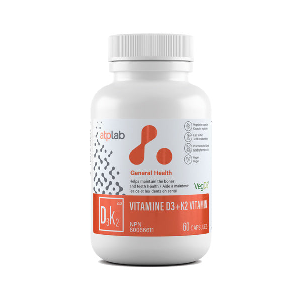 ATP Lab Vitamin D3 + K2 Supplement Canada