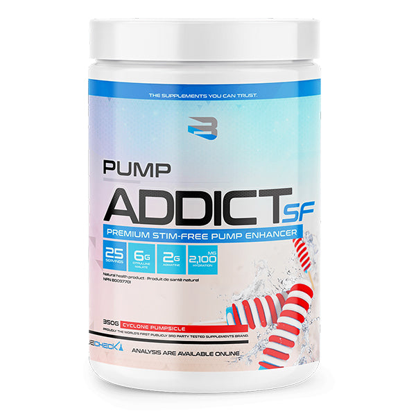 Believe Pump Addict SF Stim Free Pre Workout Cyclone Pumpsicle
