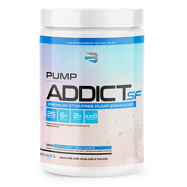 Believe Pump Addict SF Stim Free Pre Workout Unflavored