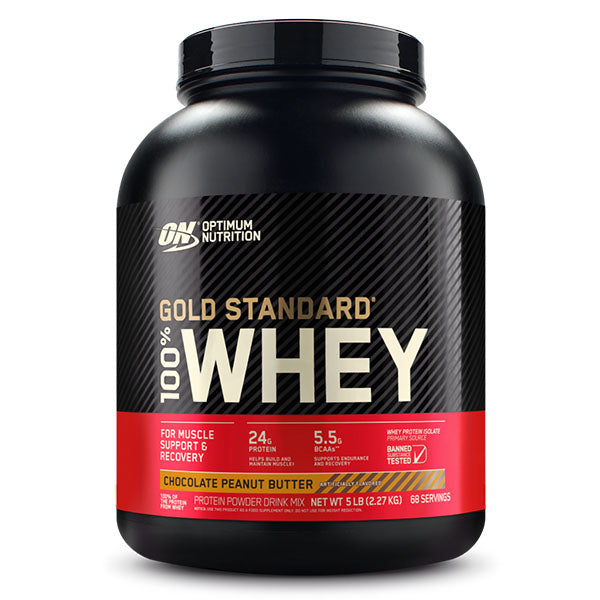 Optimum Gold Standard 100% Whey Protein, 5 lbs