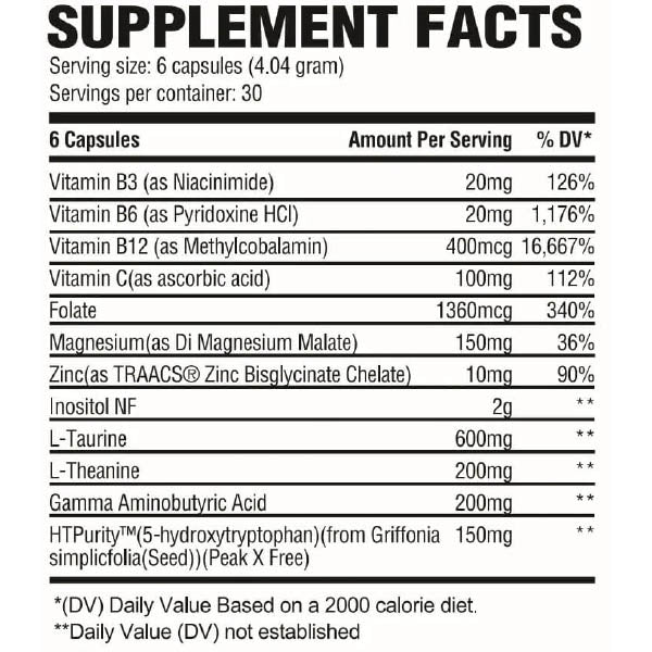 Revive Calm Cortisol Supplement Formula Facts