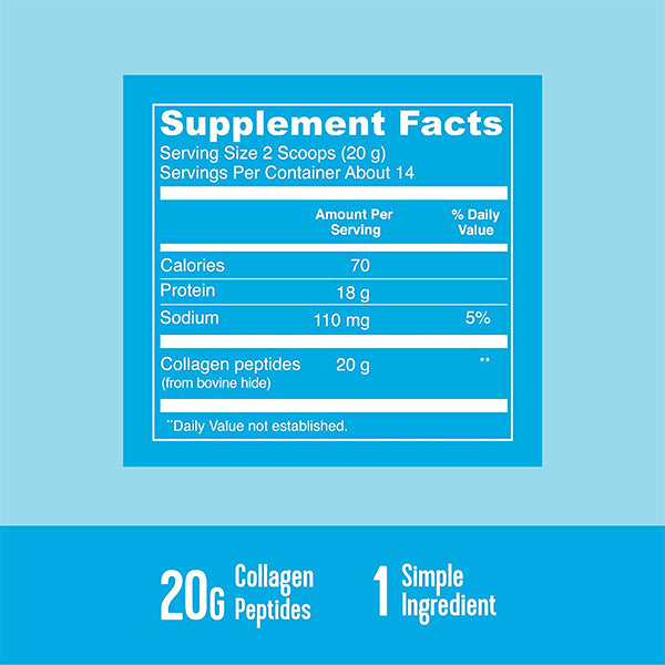 Vital Proteins Collagen Peptides Supplement Facts