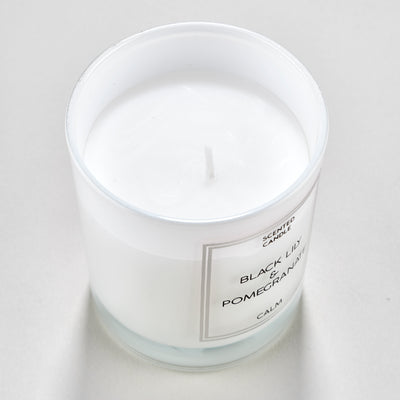Simple Single Wick Black Lily & Pomegranate Scented Candle