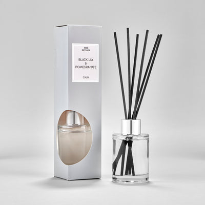 Simple Black Lily & Pomegranate Medium Luxury 75ML Diffuser
