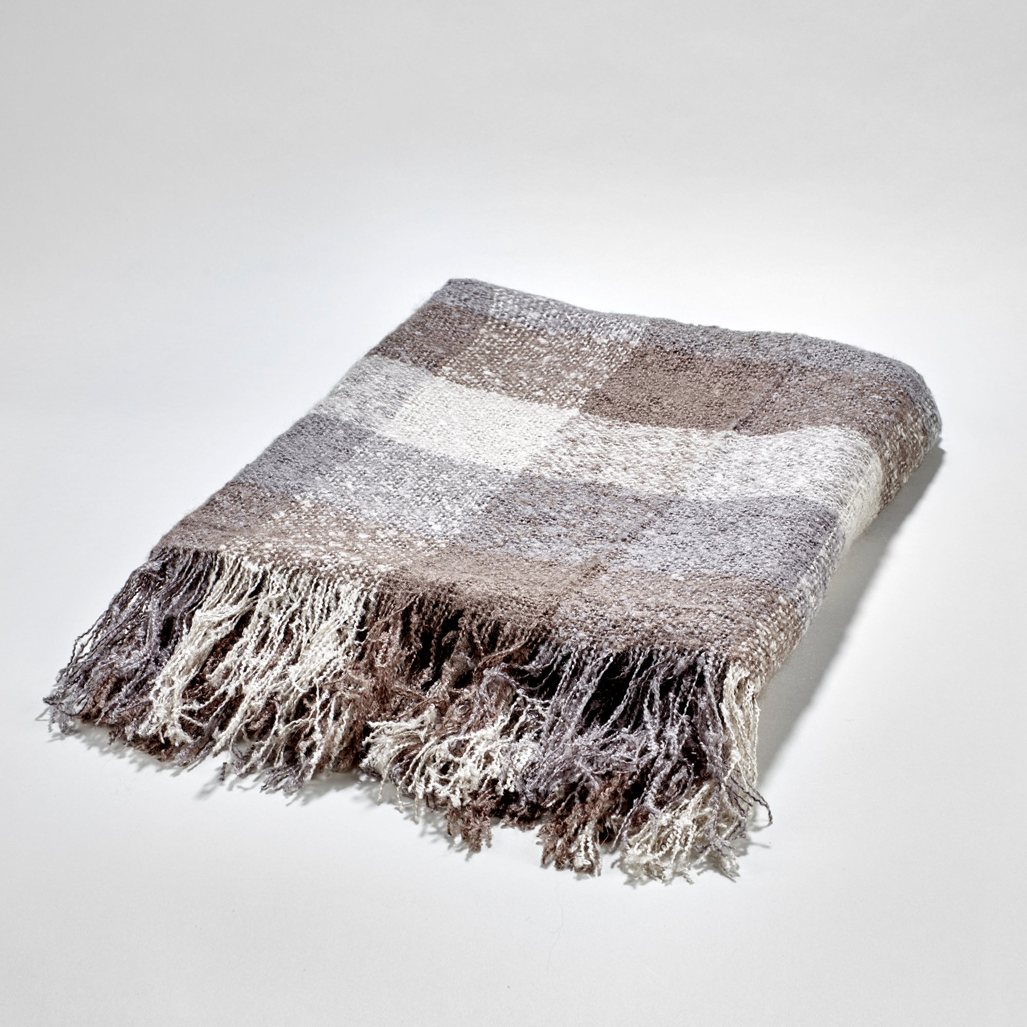 Buckingham Throw - Charcoal Blue, White & Beige