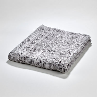 Fjord Throw - Medium Grey