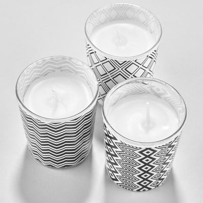 Monochrome Gift Box Set with Three Mini Candles