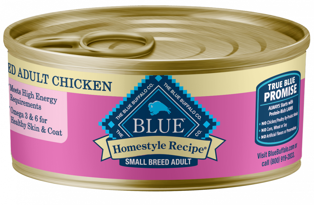 Blue Buffalo Homestyle Recipe Small Breed Chicken Dinner with Garden Vegetables & Brown Rice Canned Dog Food