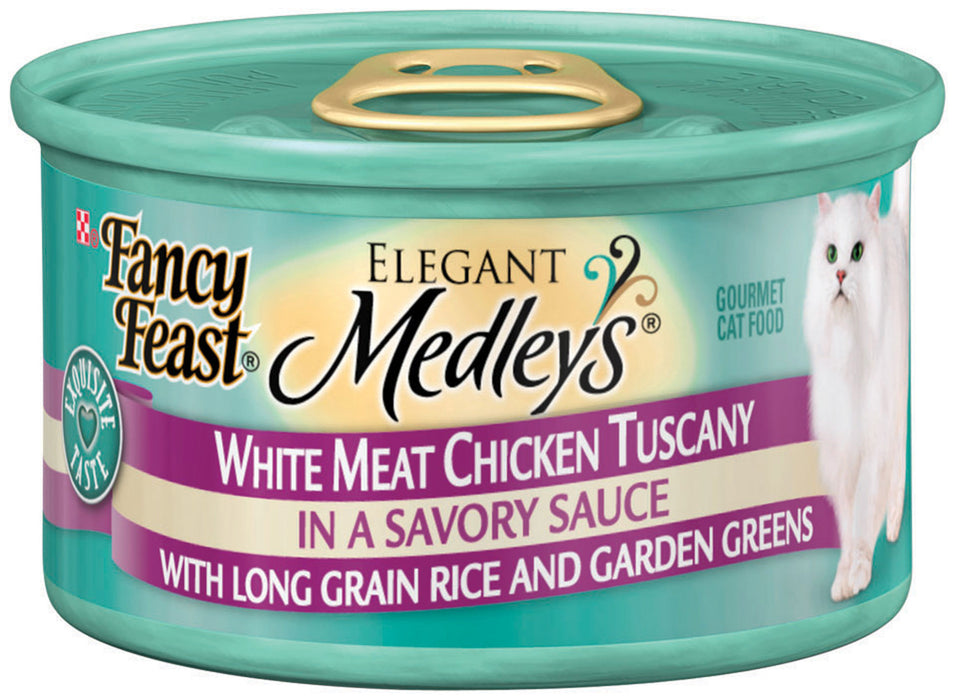 Fancy Feast Elegant Medleys White Meat Chicken Tuscany Canned Cat Food