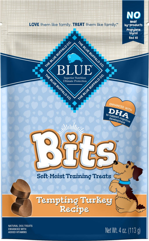 Blue Buffalo Bits Tempting Turkey Natural Soft-Moist Training Treats