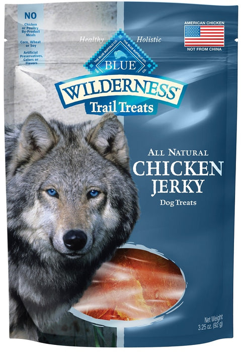 Blue Buffalo Wilderness Grain Free Trail Treats Chicken Jerky for Dogs