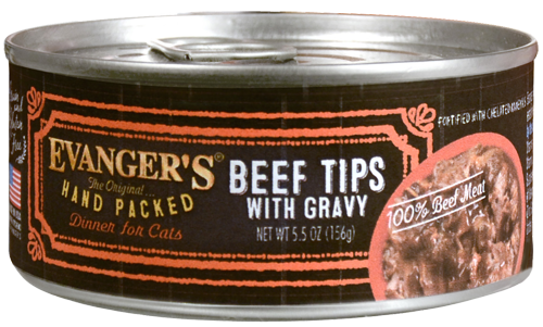 Evangers Beef Tips with Gravy Canned Cat Food