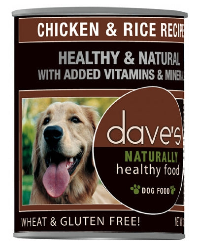 Dave's Naturally Healthy Chicken And Rice Canned Dog Food