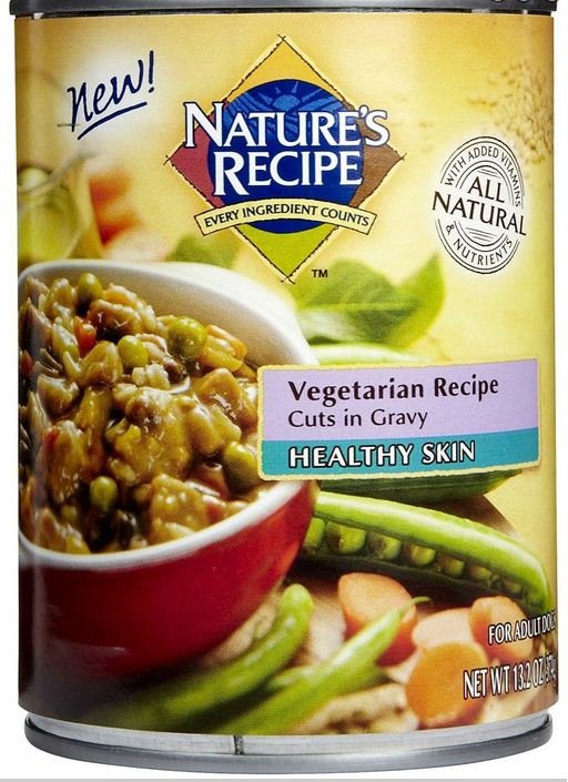 Nature's Recipe Healthy Skin Vegetarian Recipe Cuts in Gravy Canned Dog Food
