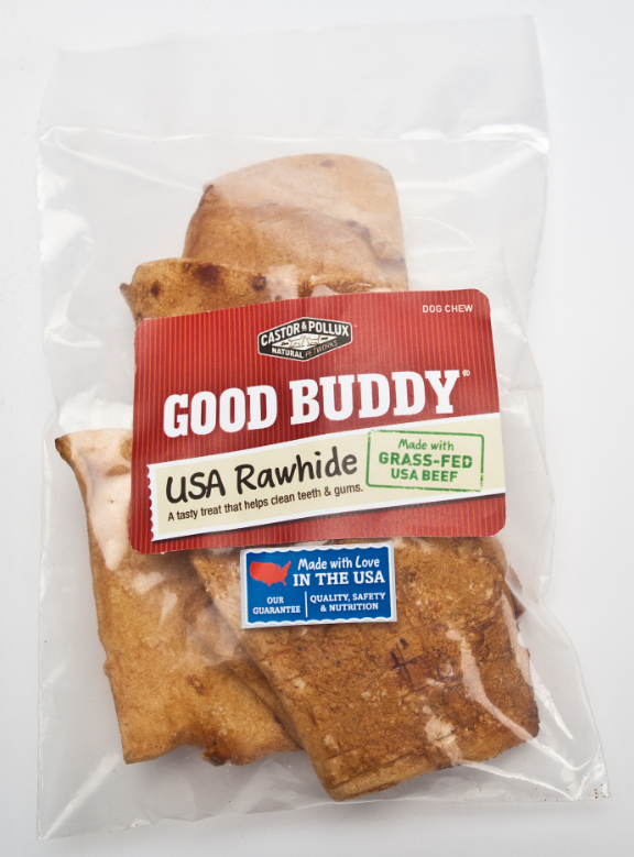 Castor and Pollux Good Buddy USA Rawhide Chips Dog Chews
