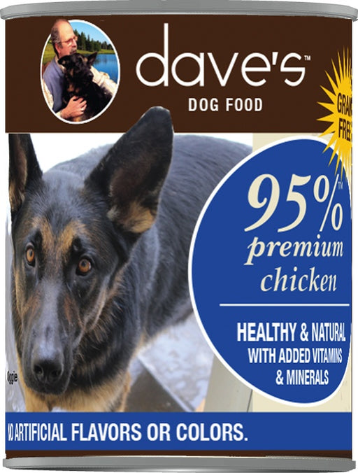 Dave's Premium Chicken 95% Meat Canned Dog Food