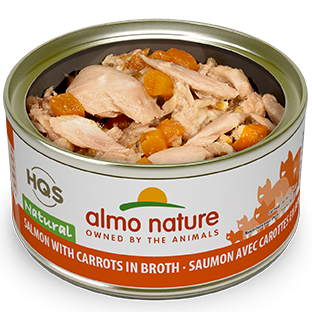 Almo Nature HQS Natural Cat Grain Free Salmon with Carrot Canned Cat Food