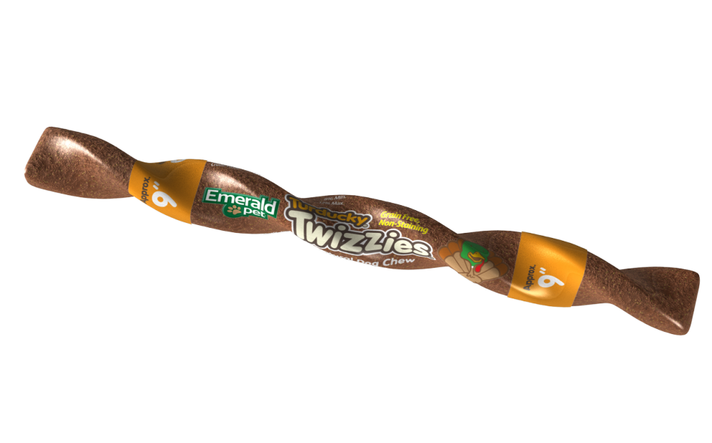Emerald Pet Turducky Twizzies Natural Dog Chew