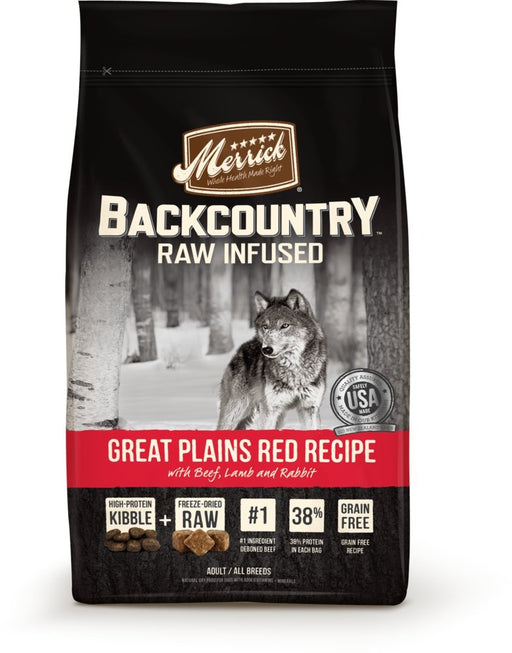 Merrick Backcountry Raw Infused Grain Free Great Plains Red Recipe Dry Dog Food