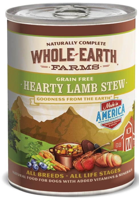 Whole Earth Farms Grain Free Hearty Lamb Stew Canned Dog Food