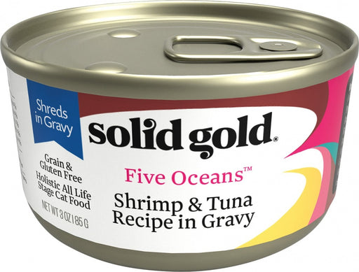 Solid Gold Five Oceans Grain Free Shrimp & Tuna Canned Cat Food