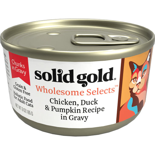 Solid Gold Wholesome Selects Grain Free Chicken, Duck, & Pumpkin in Gravy Recipe Canned Cat Food