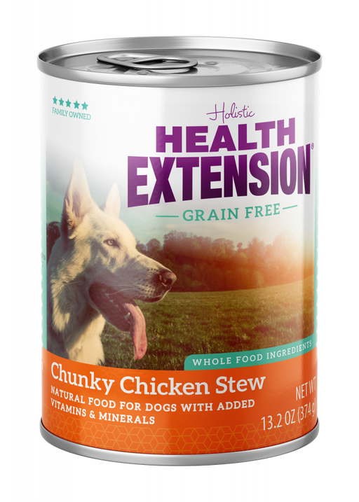 Health Extension Grain Free Chunky Chicken Stew Canned Dog Food
