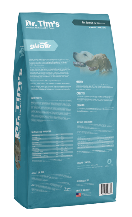 Dr. Tim's Glacier Athletic Blend Dry Dog Food