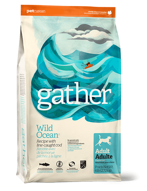 Petcurean Gather Grain Free Wild Ocean Line-Caught Cod Recipe Adult Dry Dog Food