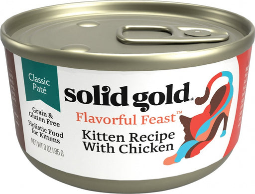 Solid Gold Flavorful Feast Grain Free Kitten Recipe with Chicken Canned Cat Food
