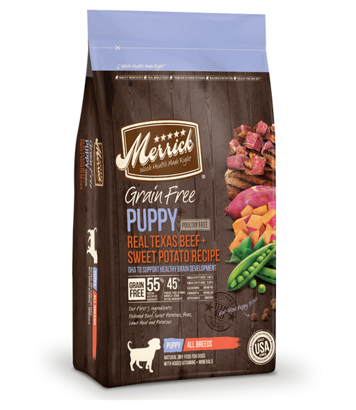 Merrick Grain Free Real Texas Beef + Sweet Potato Puppy Recipe Dry Dog Food