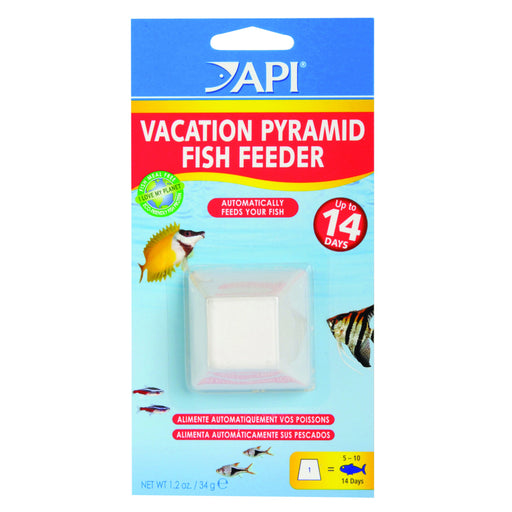 API Vacation Pyramid Fish Feeder 14-Day 1.2-Ounce Automatic Fish Feeder