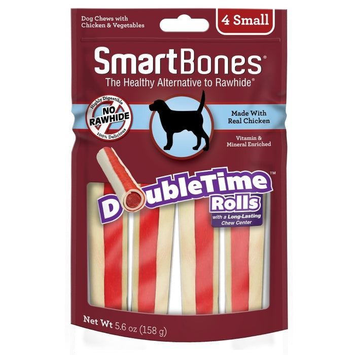 SmartBones DoubleTime Rolls Chicken Dog Treat
