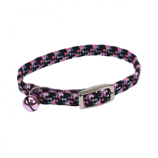 Coastal Pet Products Lil Pals Elasticized Safety Kitten Collar with Reflective Threads Neon Pink