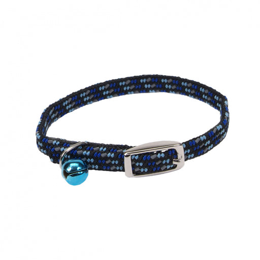 Coastal Pet Products Lil Pals Elasticized Safety Kitten Collar with Reflective Threads Blue