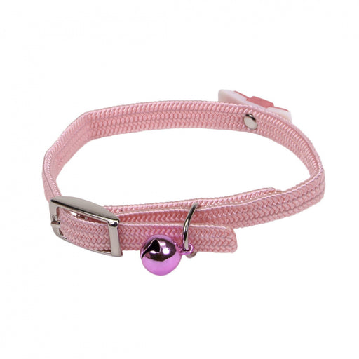 Coastal Pet Products Lil Pals Elasticized Safety Kitten Collar with Jeweled Bow Pink