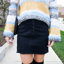 Button Front Denim Skirt - 2 colors