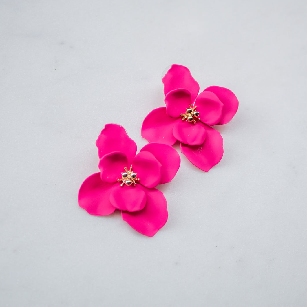 Large Floral Stud Earring